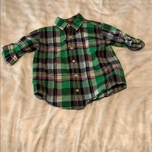 Janie and Jack plaid button down size 4